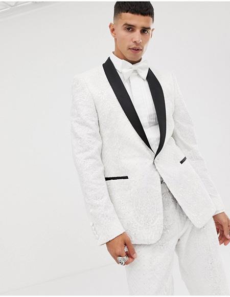 Mens White Tuxedo Single