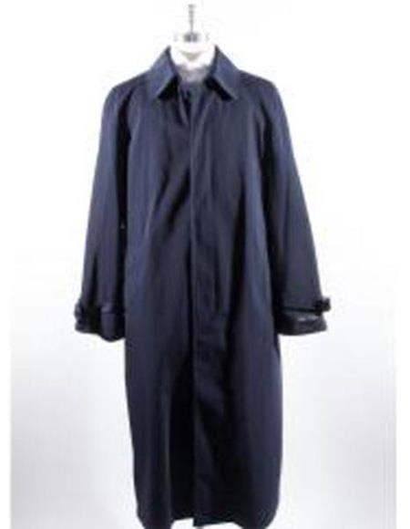 Product# EK390 Mens Big And & Tall Trench Coat Navy