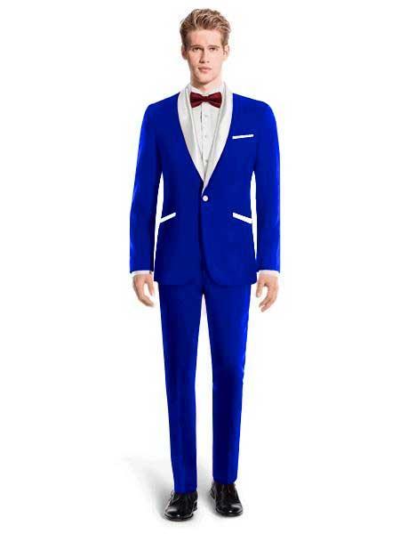 White Lapel Tuxedo Suit
