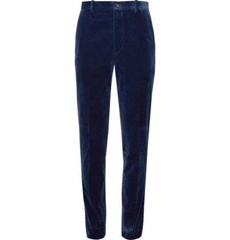 Product# JA773 Mens Navy Blue Velvet Pants Slacks Trousers