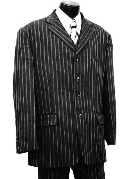Pinstripe Wool 3pc Zoot
