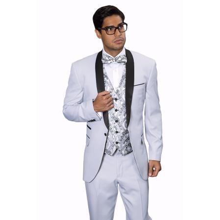Mens Capri Silver Tuxedo