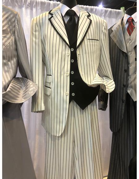Product# EK425 Mens Single Breasted White Suit