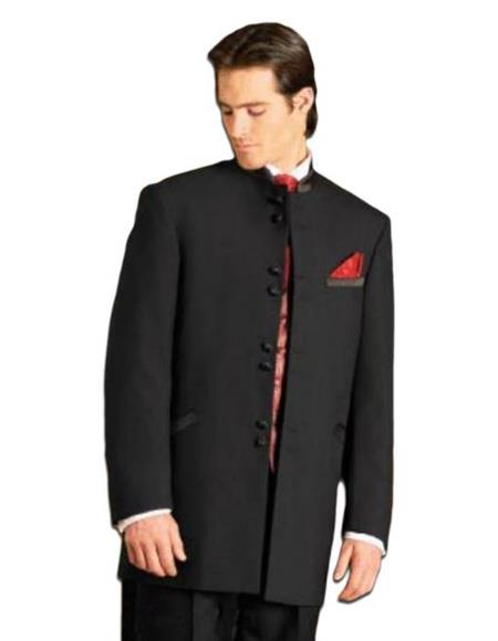 Mens Collarless Blazer Nehru