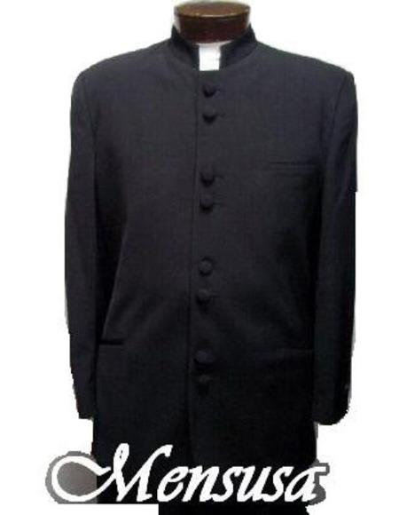 men's Collarless Blazer Nehru Jacket Marriage Groom Wedding Black