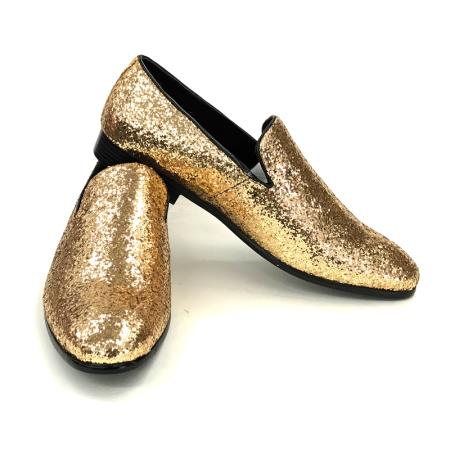 Product# JA801 Amali Barnes Smoker Slip Ons In Gold