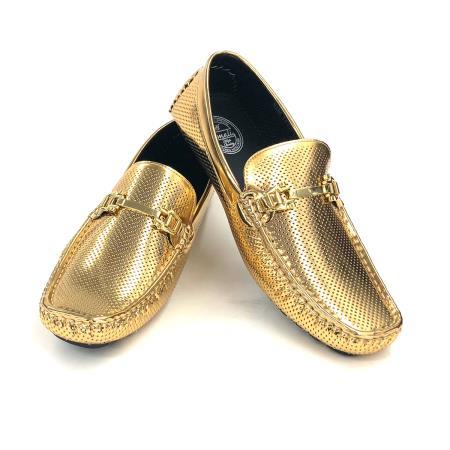 Amali Shiny Gold Loafer