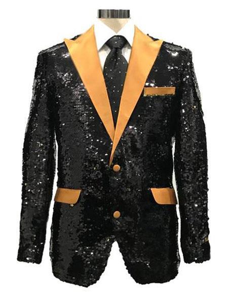 Sequin Black & Gold