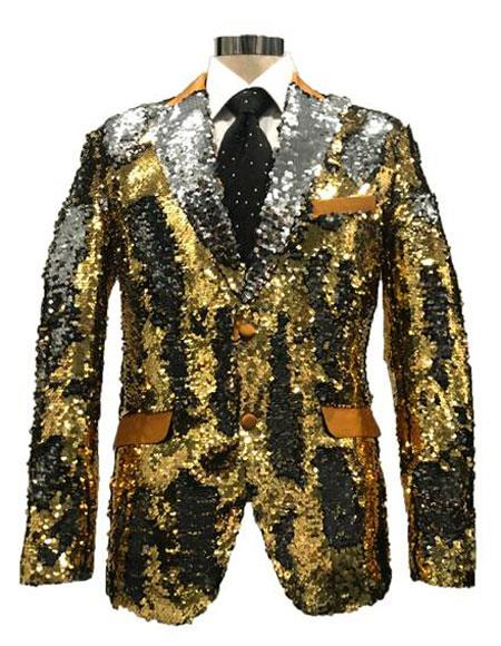 Sequin Silver & Gold