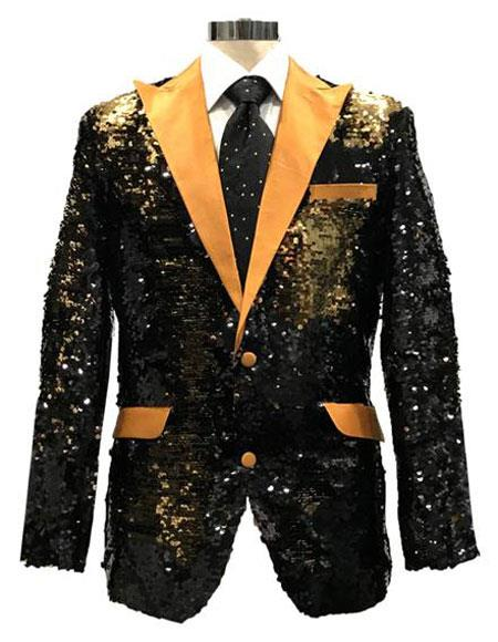 Sequin Black & Gold