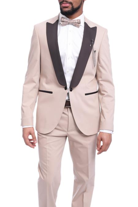 Lapel Solid Tan ~