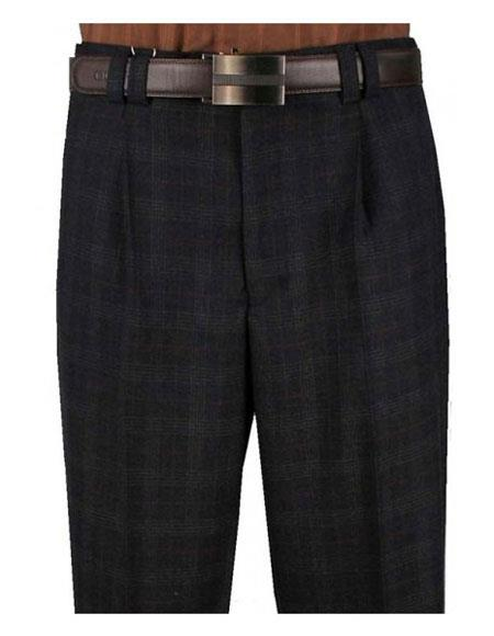 Mens Plaid Charcoal 1920s