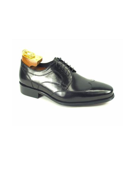 Product#JA877 Mens Lace-Up Shoes by Carrucci - Black