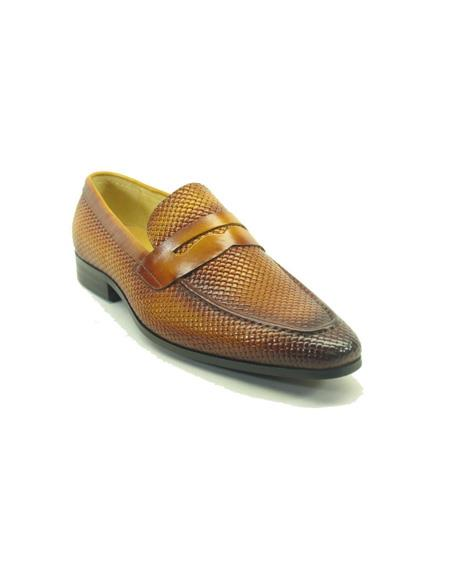 Woven Leather Loafers by