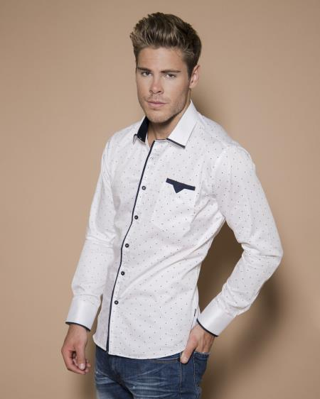Product#JA941 Mens Vegas - BARABAS Men White/Navy