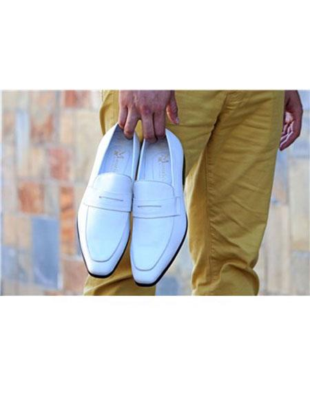 Carrucci White Slip On