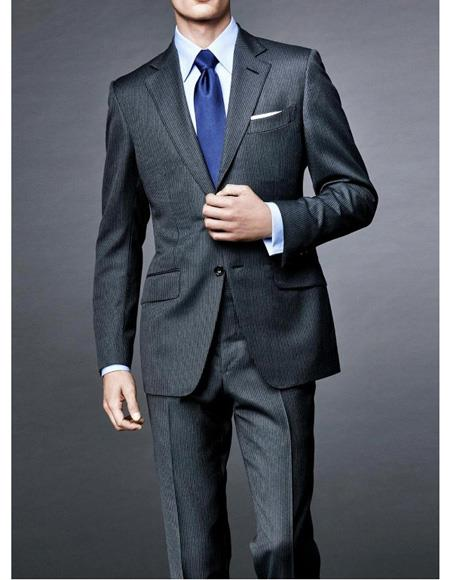 Mens Charcoal Gray Linen Suit