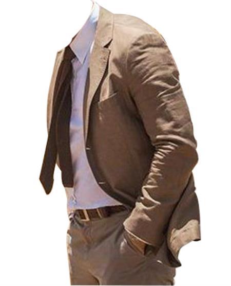 SKU#SR318 Mens Brown James Bond Wool Blend Two Piece  Suit Spectre