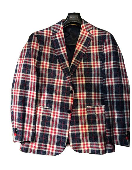 Men's Plaid ! Window Pane Blazer Sport Coat