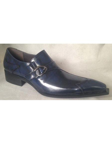 Product#EK776 Mens Navy Wingtip Design Zota Unique Men's Dress Shoes