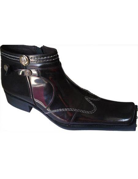 Burgundy Zota shoes Leather