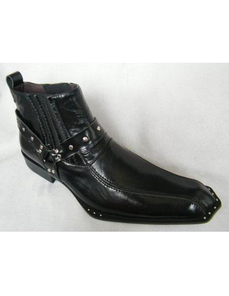 Black Pointed Toe Leather