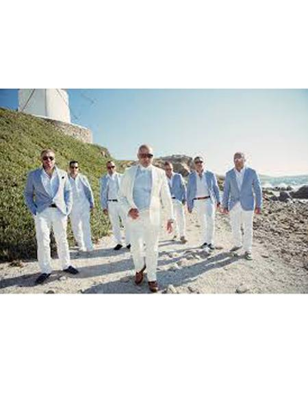 SKU#SK05 Mens Beach Wedding Attire Suit