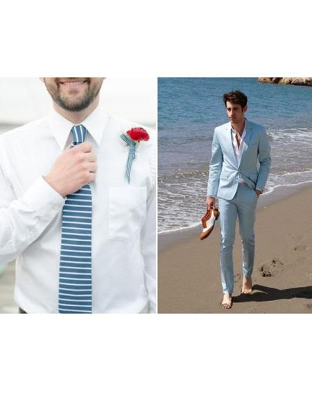 SKU#SK14 Mens Beach Wedding Attire Suit
