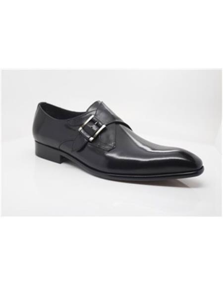 Mens Black Wrapped Silver Carrucci Shoes