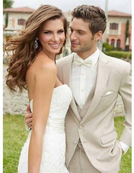 Men's Beach Wedding Attire Suit Menswear Ivory $199