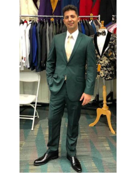 Flap Front Pockets Suit
