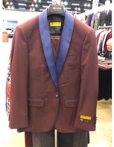 Purple Shawl Lapel Suit