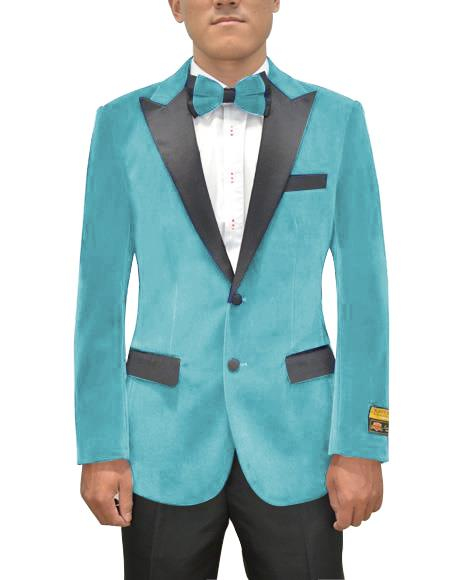 Breasted Peak Lapel Sky