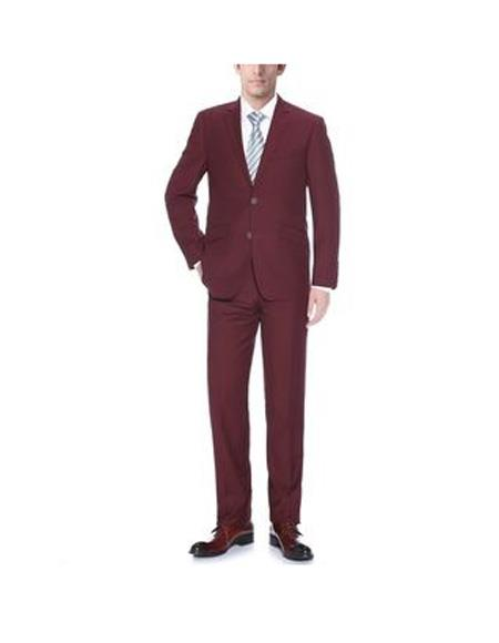 Two Buttons Burgundy Notch
