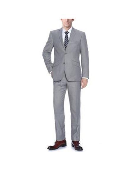Mens Light Grey Polyester/Viscose