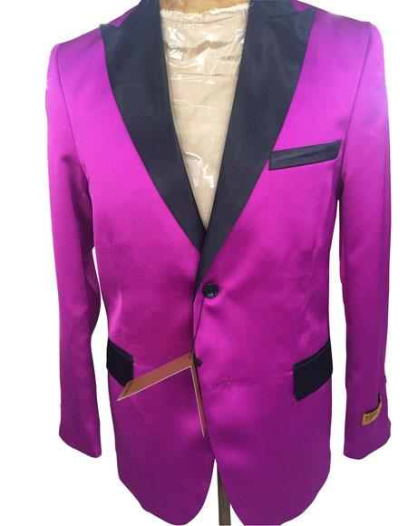 Mens Single Breasted Dark Pink ~ Fuchsia Blazer