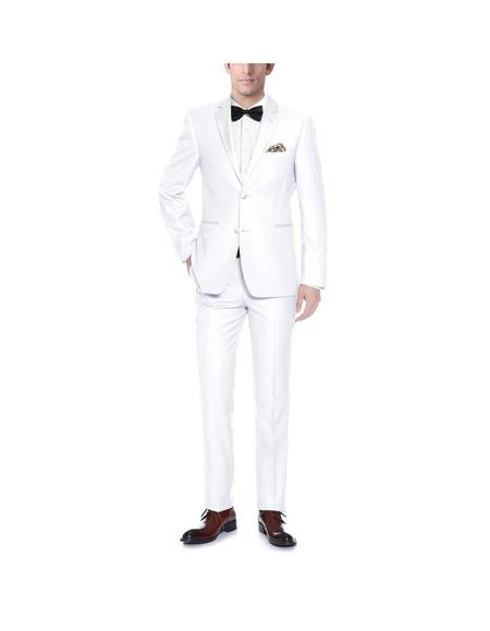 Verno Mens White Notch