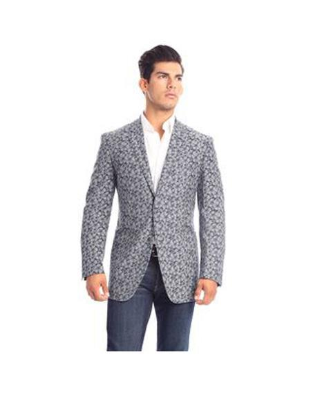 Parisi Mens Notch Lapel