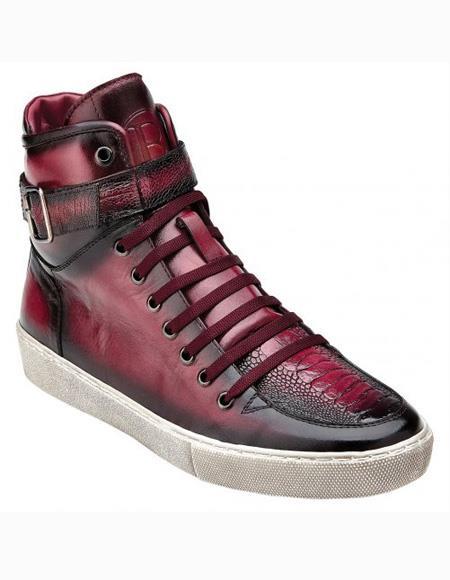 Wine Lace Up Shoe