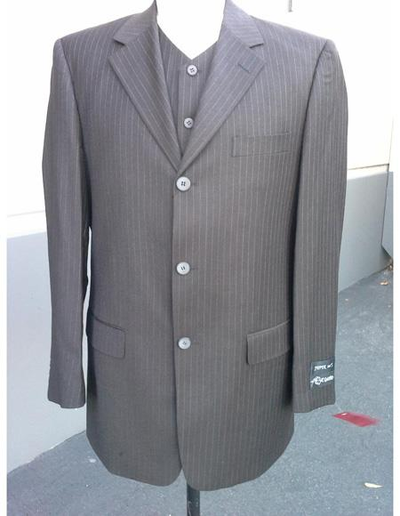100% Wool Suit Pleated