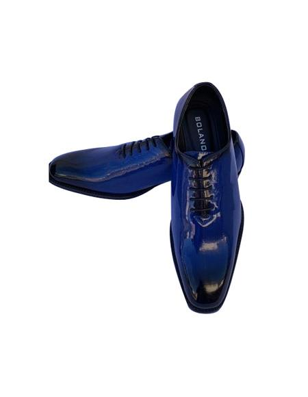Dress Shoes Dark Blue