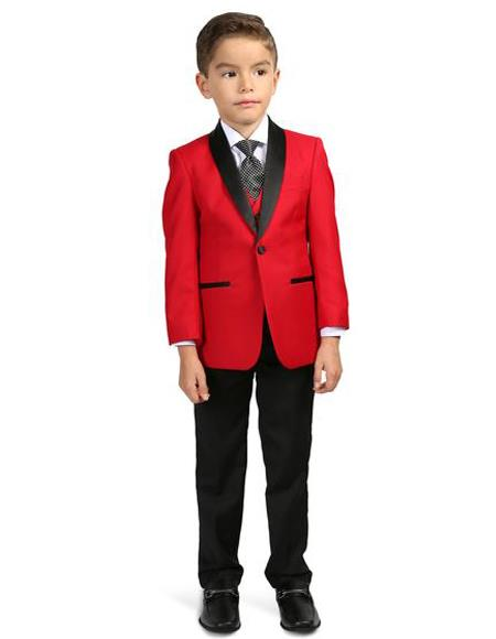 Boys Shawl Lapel Single