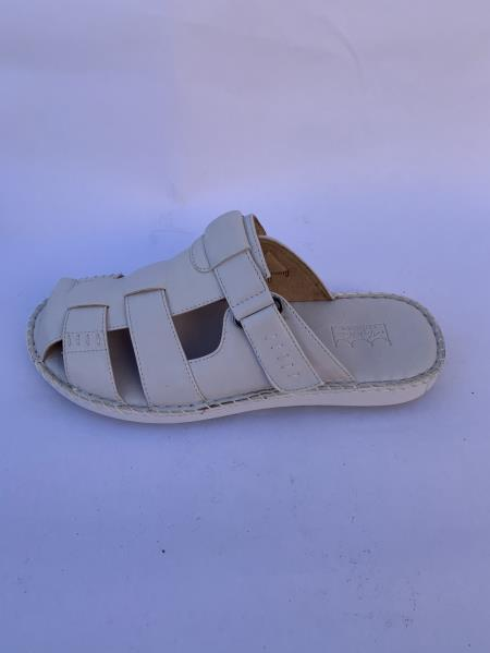 Leather Gray Sandals
