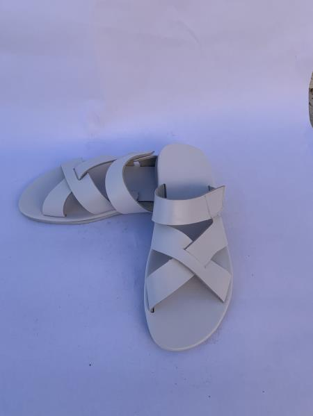 Leather Gray Sandal
