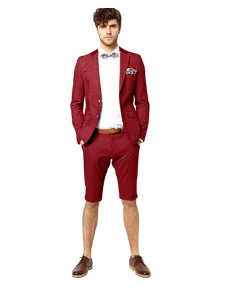 Maroon Breasted Suit