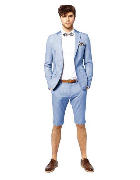 Light Blue Button Suit