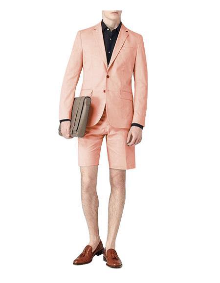 Dark Beige Breasted Suit