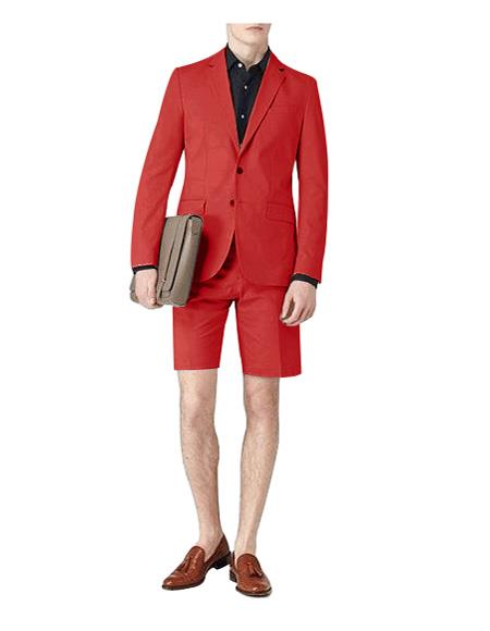 Lapel Red Two Button