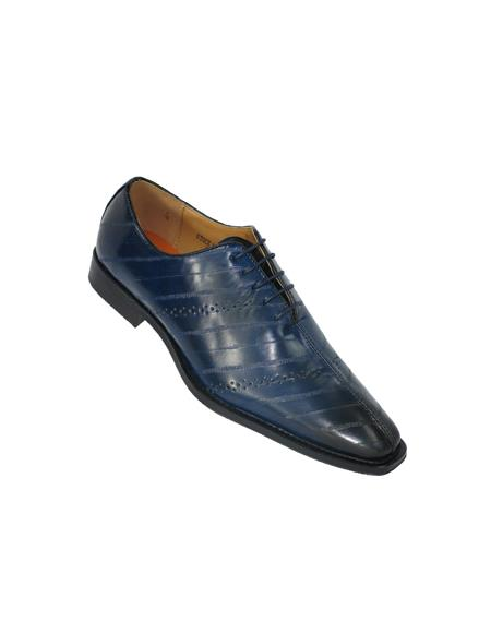 Cap Toe Navy Shoes