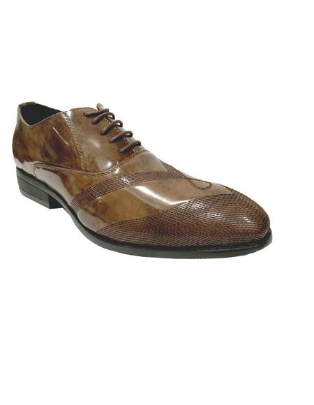 Cap Toe Brown Shoes
